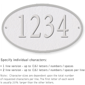 Salsbury 1332WSS Cast Aluminum Address Plaque