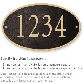 Salsbury 1331BGS Cast Aluminum Address Plaque