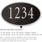 Salsbury 1331BSL Cast Aluminum Address Plaque