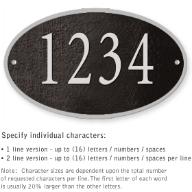 Salsbury 1331BSS Cast Aluminum Address Plaque