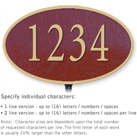 Salsbury 1331MGL Cast Aluminum Address Plaque