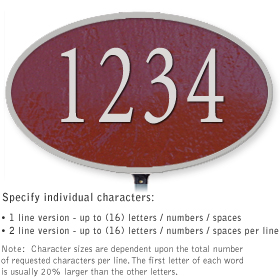 Salsbury 1331MSL Cast Aluminum Address Plaque