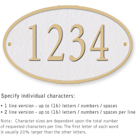 Salsbury 1331WGS Cast Aluminum Address Plaque