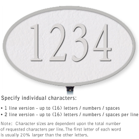 Salsbury 1331WSL Cast Aluminum Address Plaque