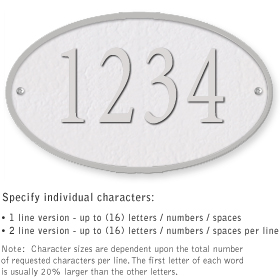 Salsbury 1331WSS Cast Aluminum Address Plaque