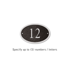 Salsbury 1339BSS Cast Aluminum Address Plaque