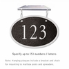 Salsbury 1335BSH Cast Aluminum Address Plaque