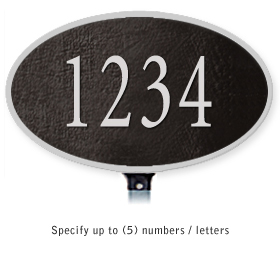 Salsbury 1330BSL Cast Aluminum Address Plaque