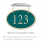 Salsbury 1335GGH Cast Aluminum Address Plaque
