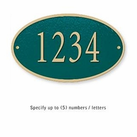 Salsbury 1330GGS Cast Aluminum Address Plaque