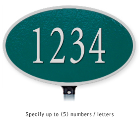 Salsbury 1330GSL Cast Aluminum Address Plaque