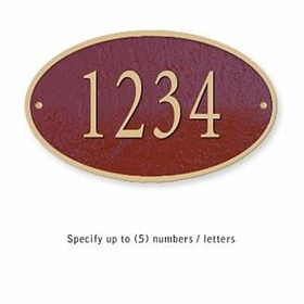 Salsbury 1330MGS Cast Aluminum Address Plaque