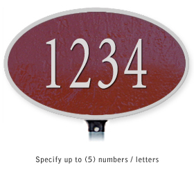 Salsbury 1330MSL Cast Aluminum Address Plaque