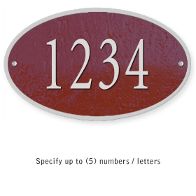 Salsbury 1330MSS Cast Aluminum Address Plaque