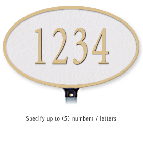 Salsbury 1330WGL Cast Aluminum Address Plaque