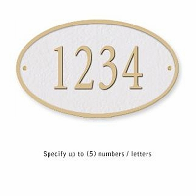 Salsbury 1330WGS Cast Aluminum Address Plaque