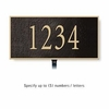Salsbury 1310BGL Cast Aluminum Address Plaque