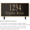 Salsbury 1312BGL Cast Aluminum Address Plaque