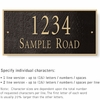 Salsbury 1312BGS Cast Aluminum Address Plaque