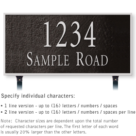 Salsbury 1312BSL Cast Aluminum Address Plaque