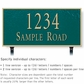 Salsbury 1312GGL Cast Aluminum Address Plaque
