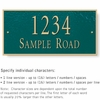 Salsbury 1312GGS Cast Aluminum Address Plaque