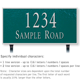 Salsbury 1312GSL Cast Aluminum Address Plaque