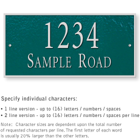 Salsbury 1312GSS Cast Aluminum Address Plaque