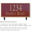 Salsbury 1312MGL Cast Aluminum Address Plaque