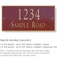 Salsbury 1312MGS Cast Aluminum Address Plaque