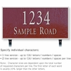 Salsbury 1312MSL Cast Aluminum Address Plaque