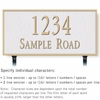 Salsbury 1312WGL Cast Aluminum Address Plaque