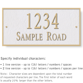 Salsbury 1312WGS Cast Aluminum Address Plaque