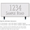 Salsbury 1312WSL Cast Aluminum Address Plaque