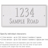 Salsbury 1312WSS Cast Aluminum Address Plaque