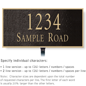 Salsbury 1311BGL Cast Aluminum Address Plaque