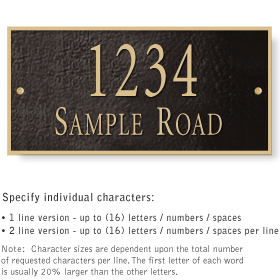 Salsbury 1311BGS Cast Aluminum Address Plaque