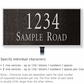 Salsbury 1311BSL Cast Aluminum Address Plaque
