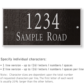 Salsbury 1311BSS Cast Aluminum Address Plaque