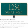Salsbury 1311GGL Cast Aluminum Address Plaque