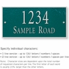 Salsbury 1311GSS Cast Aluminum Address Plaque