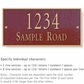 Salsbury 1311MGS Cast Aluminum Address Plaque