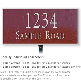 Salsbury 1311MSL Cast Aluminum Address Plaque