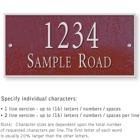 Salsbury 1311MSS Cast Aluminum Address Plaque