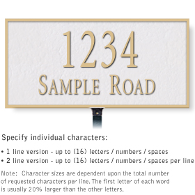 Salsbury 1311WGL Cast Aluminum Address Plaque