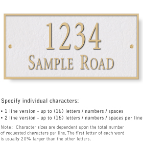 Salsbury 1311WGS Cast Aluminum Address Plaque