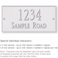 Salsbury 1311WSS Cast Aluminum Address Plaque