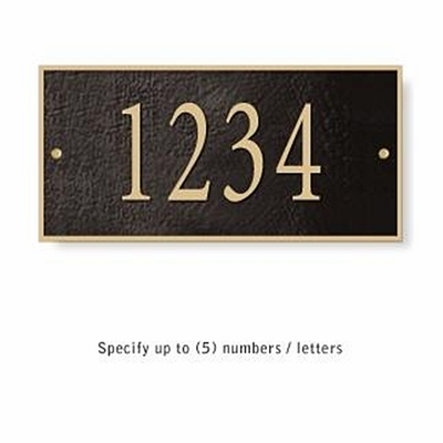 Salsbury 1310BGS Cast Aluminum Address Plaque