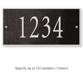 Salsbury 1310BSS Cast Aluminum Address Plaque