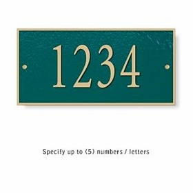 Salsbury 1310GGS Cast Aluminum Address Plaque